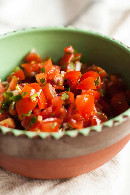 Easy Cherry Tomato Salsa from foodfashionandfun.com and mycaliforniaroots.com