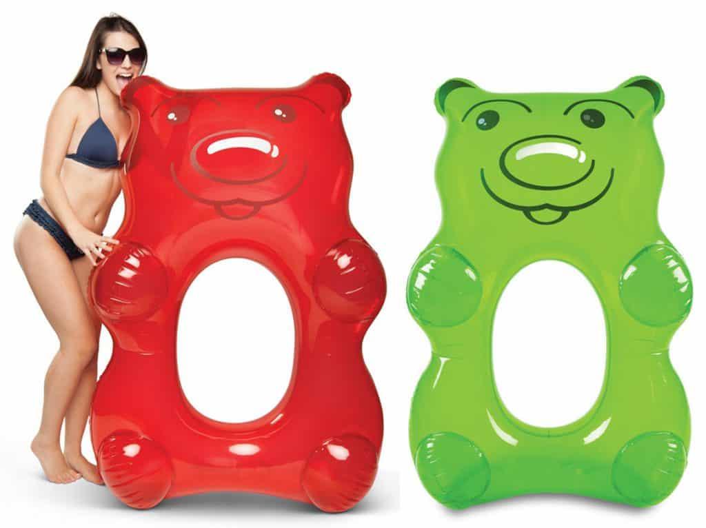 Giant gummy bear pool floats