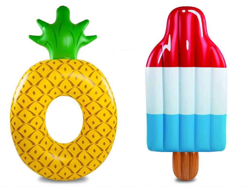 LOVE the pineapple and popsicle giant pool floats!