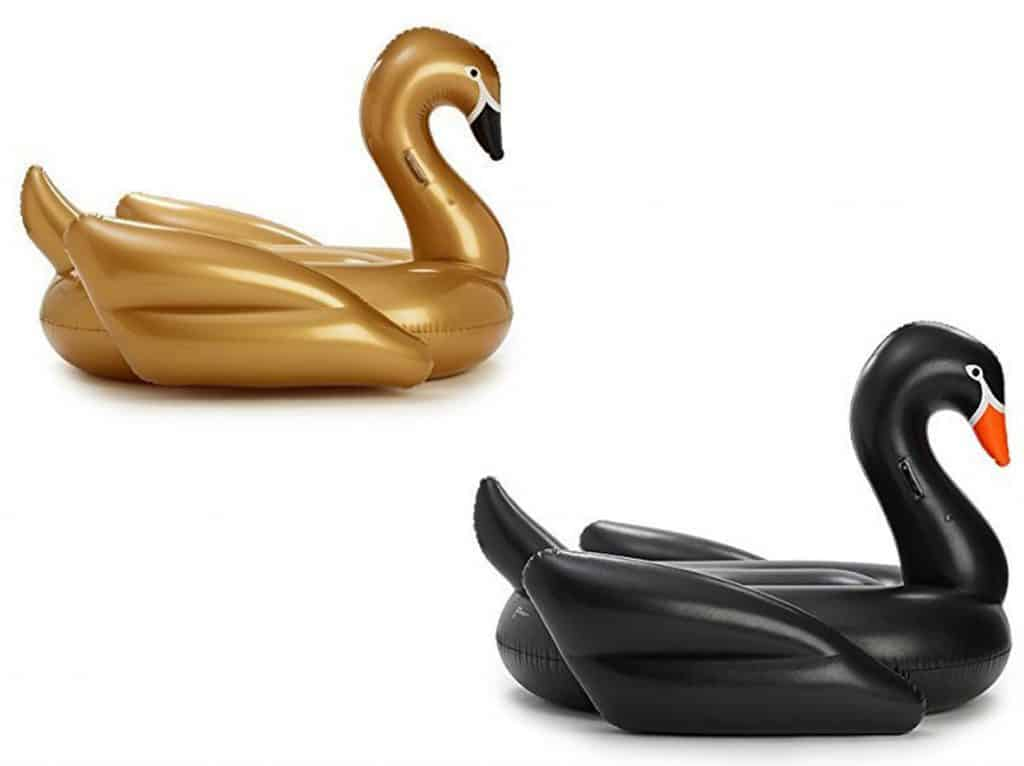 White Swans are out. Gold and black giant pool floating swans are in! Can't wait for summer!