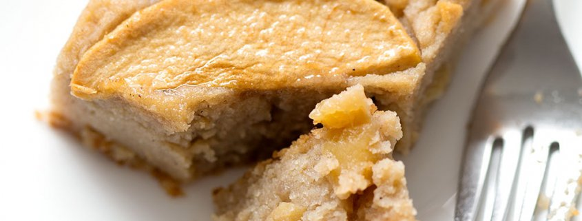 This Gooey Apple Cake is gluten and refined sugar free. Most of the sweetness and gooeyness comes from the fruit. It's a sweet and delicious cake that serves a crowd. This recipe suits the AIP (includes reintroduction) and Paleo diets.