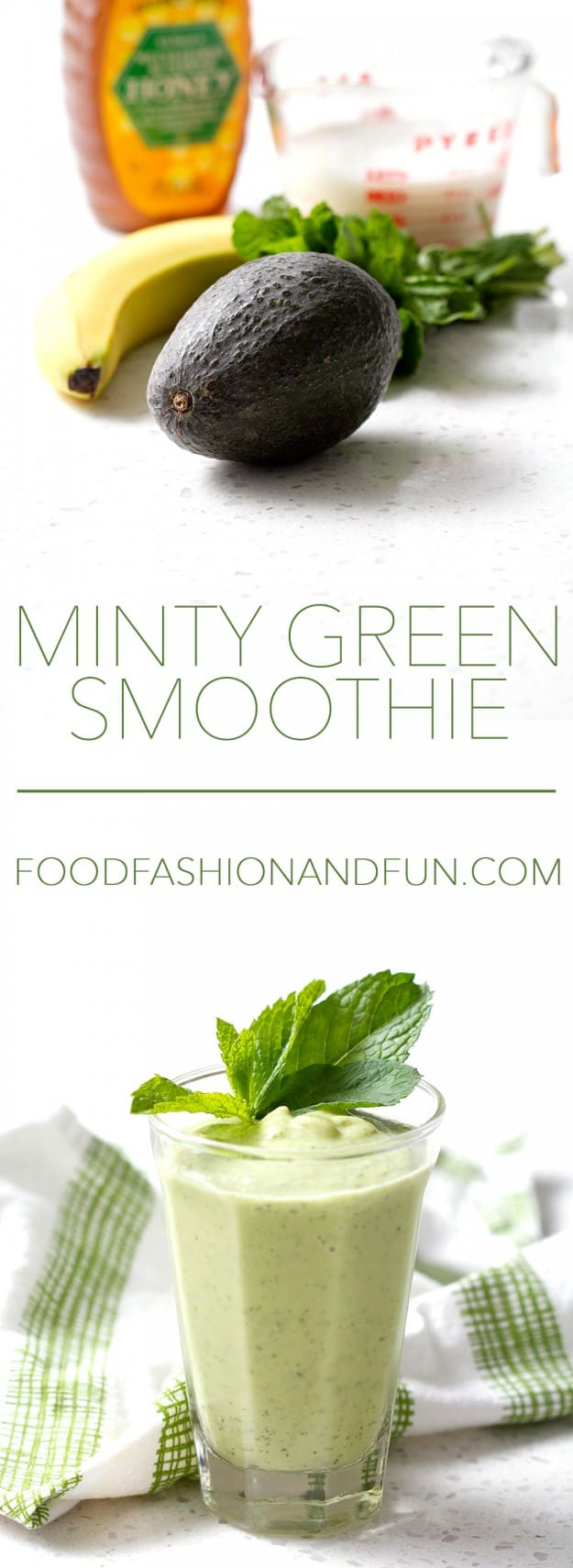 Healthy green smoothie made with avocado but with a handful of mint thrown in for a slight kick. This recipe is allergy friendly (gluten, dairy, shellfish, nut, egg, and soy free) and suits the autoimmune protocol diet (AIP), paleo and vegan diets.