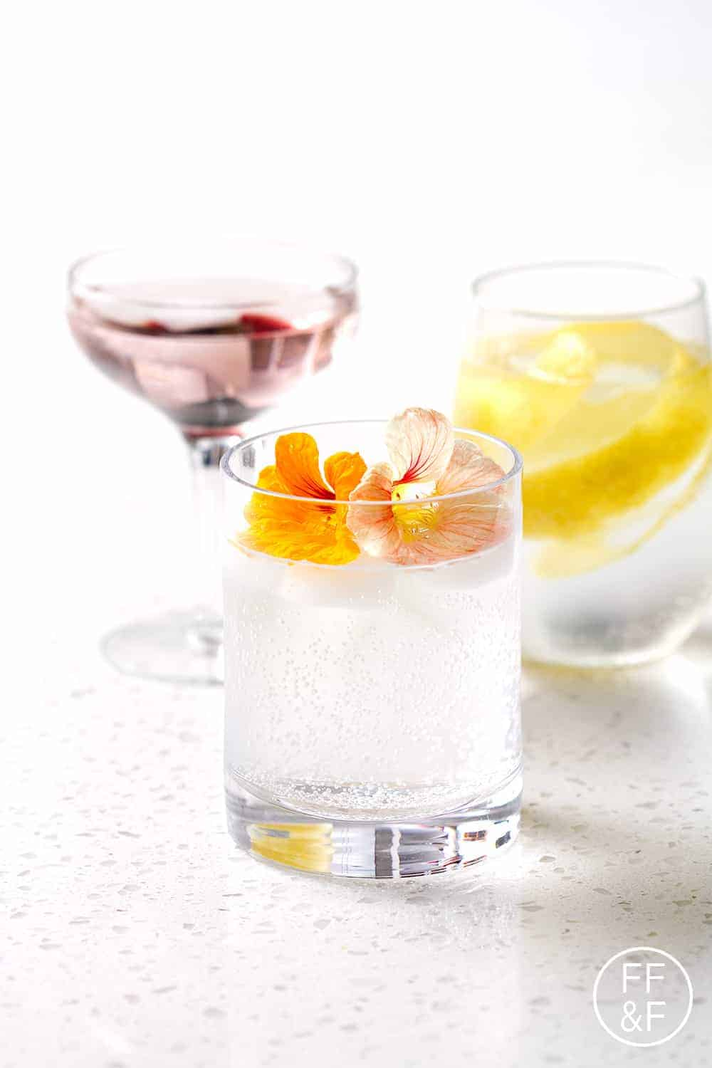 Easy Cocktail Garnishes with White Claw Hard Seltzer