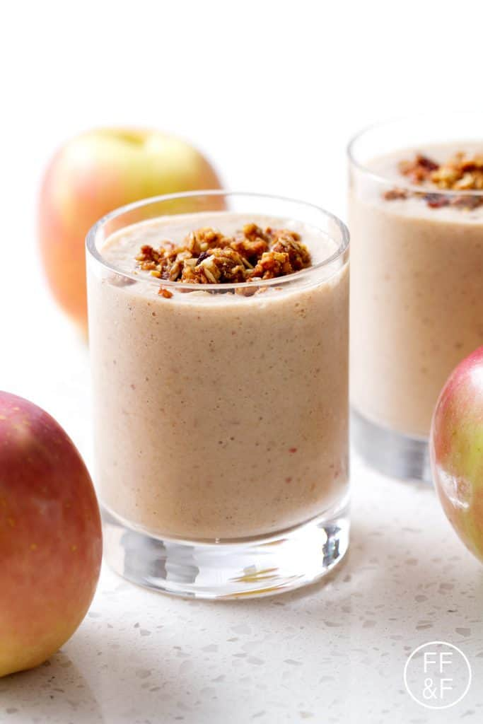 Apple Pie Smoothie made of whole ingredients and no added sugar. It's so much healthier than a pie of actual pie!