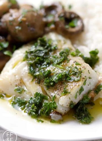 Pan Fried Cod with Oregano and Parsley Dressing