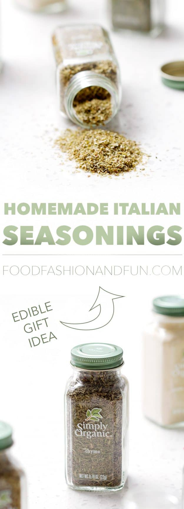 Here's a greta idea for a small gift. Make your own custom seasoning blend. THis post includes a recipe for Homemade Italian Seasonings.