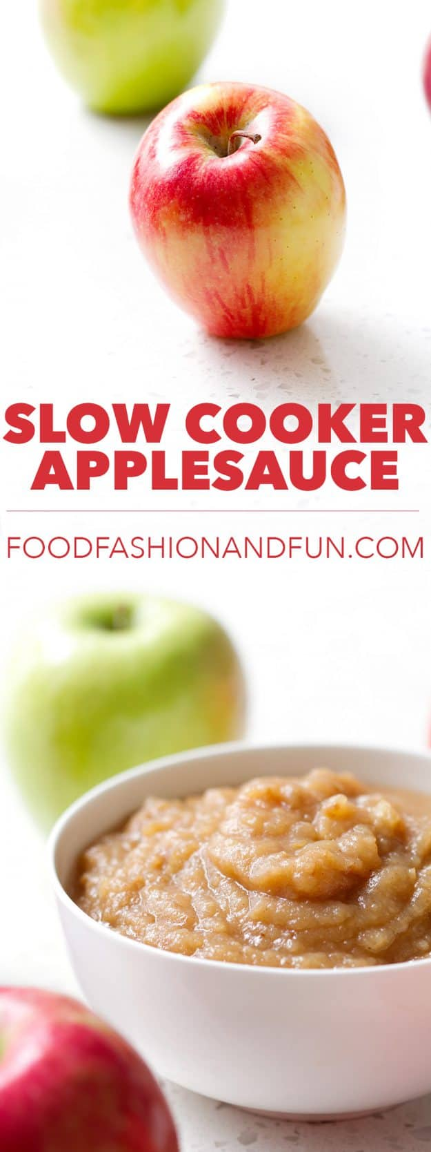 Slow Cooker Applesauce recipe that is so easy you don't even need to peel it. All you need is a slow cooker!