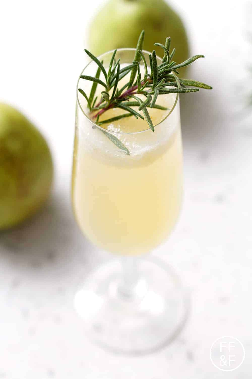 Rosemary Pear Sparkler from foodfashionandfun.com