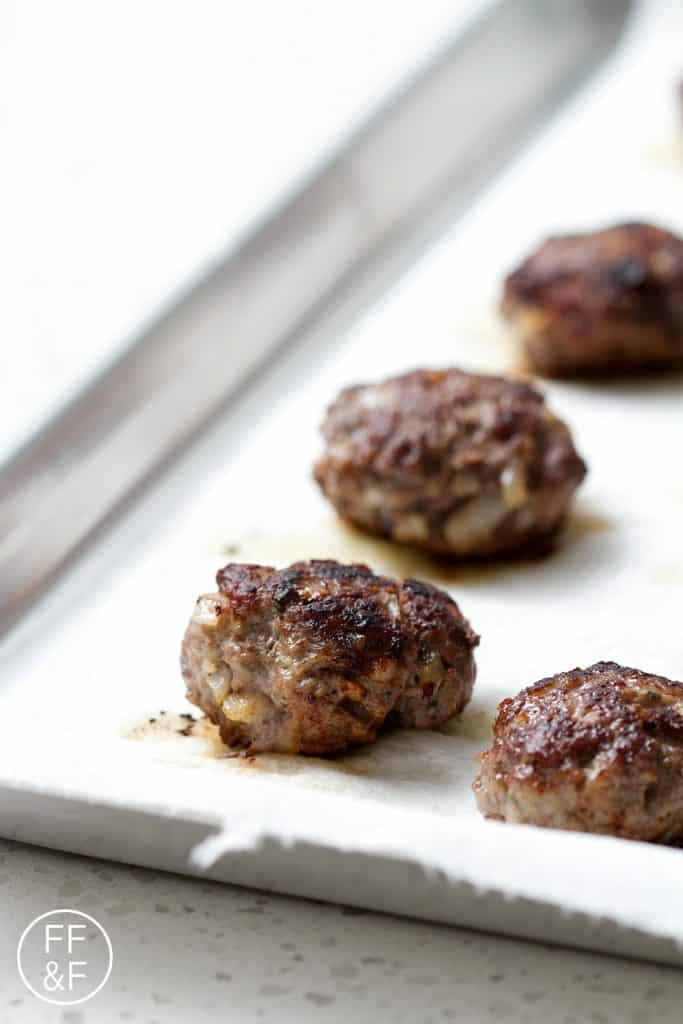 A juicy combination of pork, beef and spices combines to make a delicious AIP Breakfast Sausage. This recipe is allergy friendly (gluten, dairy, shellfish, nut, egg, and soy free) and suits the autoimmune protocol and paleo diets.