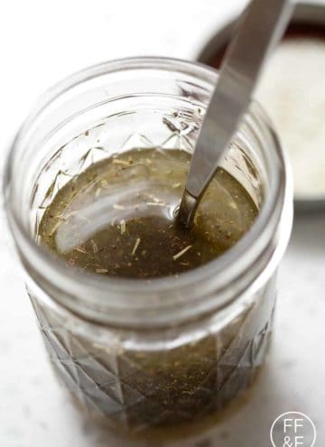 mason jar of Italian dressing