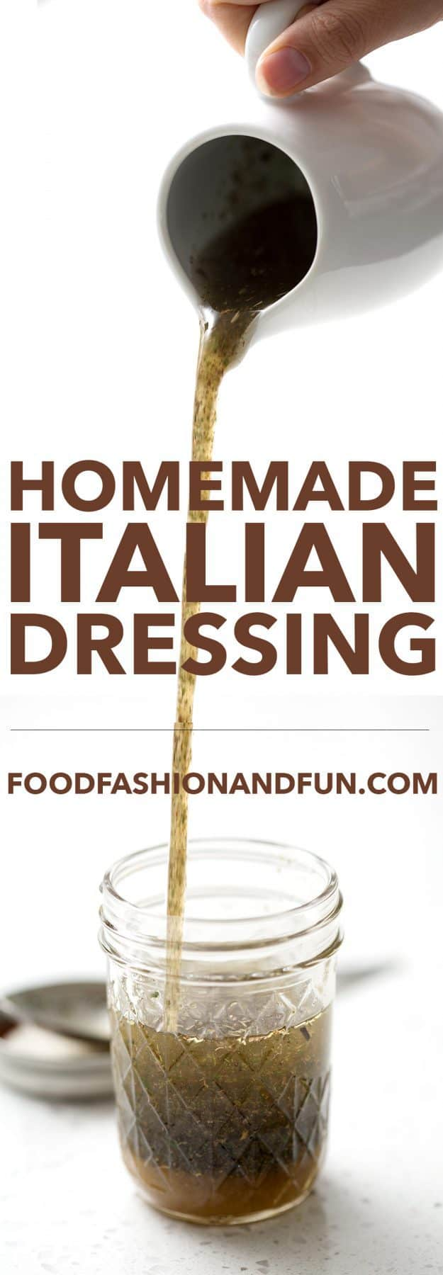 Easy Italian Dressing recipe made of pantry staples. With this recipe, you'll never have to buy store-bought again. This recipe is allergy friendly (gluten, dairy, seafood, nut, egg, and soy free) and suits the autoimmune protocol, paleo and vegan diet.