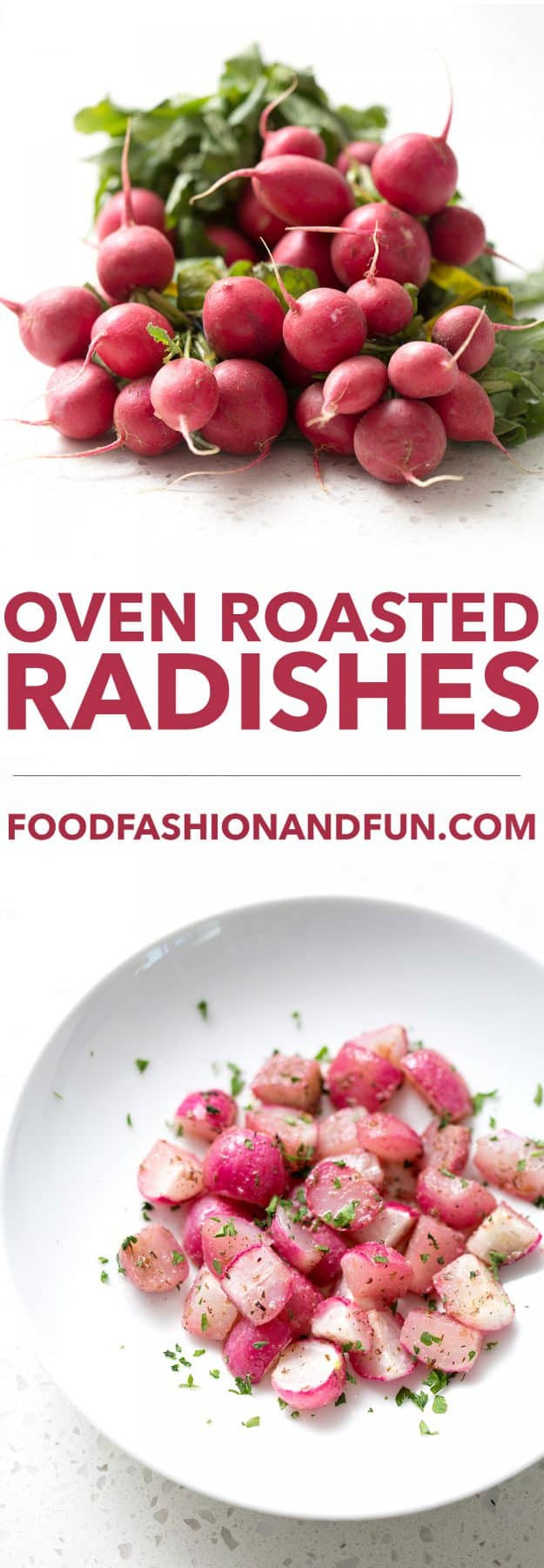 This Oven Roasted Radishes recipe takes advantage of the fresh produce from your garden. After roasting the radishes, they have an almost sweet taste that's completely different from the sharper raw flavor. This recipe is allergy friendly (gluten, dairy, seafood, nut, egg, and soy free) and suits the autoimmune protocol, paleo and vegan diets.