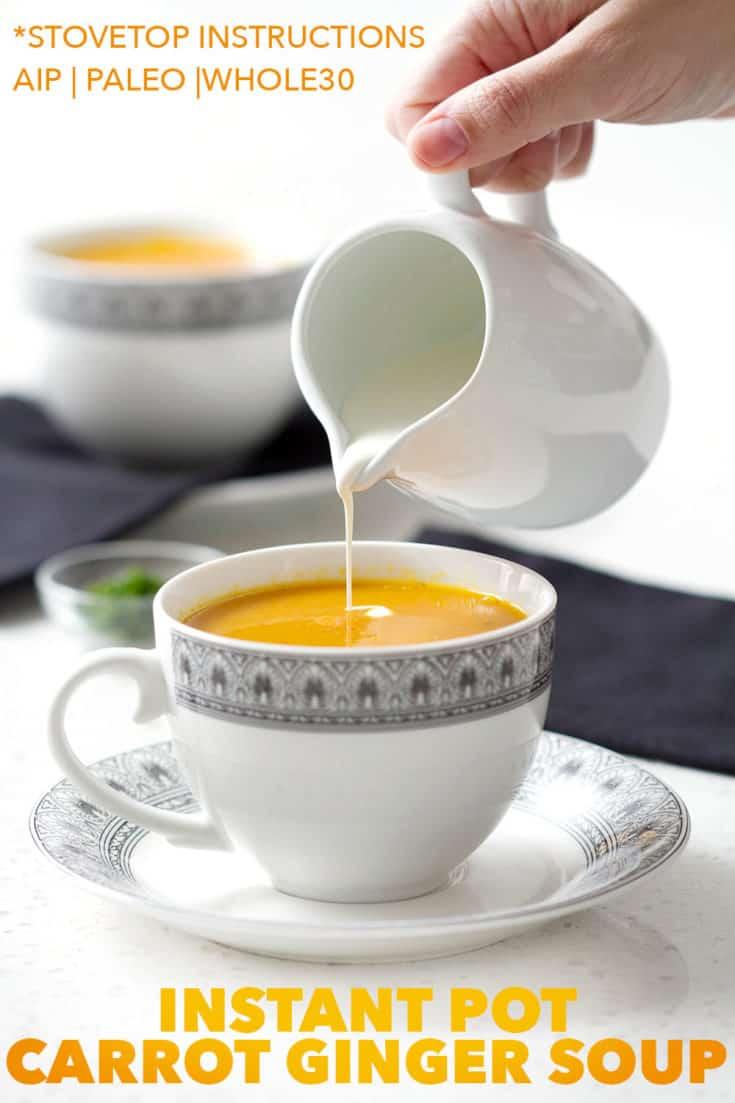 Instant Pot Carrot Ginger Soup