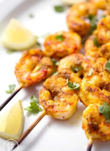 Here's a Middle Eastern inspired seafood dish that's light and delicious for summer grilling. Turmeric Grilled Shrimp is an easy recipe that your whole family will enjoy. This recipe is gluten, dairy, nut, egg, and soy free and suits the paleo diet.