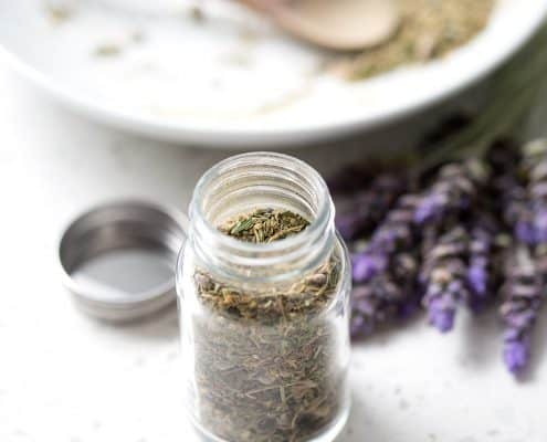 This Herbs de Provence Spice mixture is made of dried herbs, which are typical of the Provence region of southeast France. This mixture is made to fit the autoimmune protocol diet tastes great with chicken or fish and smells amazing. This recipe is allergy friendly (gluten, dairy, shellfish, nut, egg, and soy free) and suits the autoimmune protocol (AIP), paleo and vegan diets.