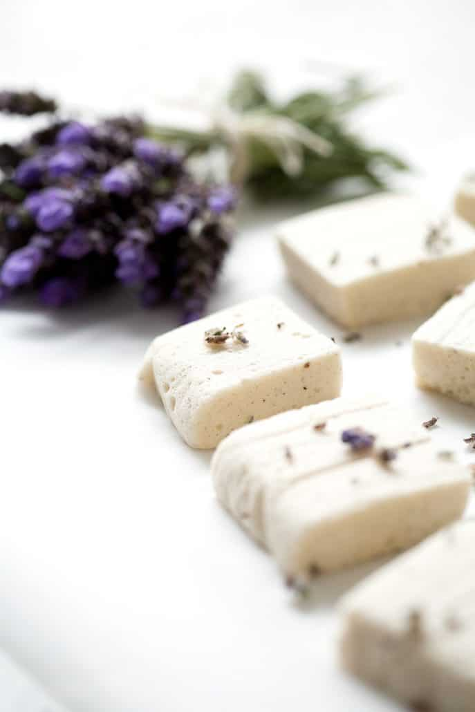 lavender and marshmallows