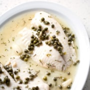 Herb Braised Fish with Capers