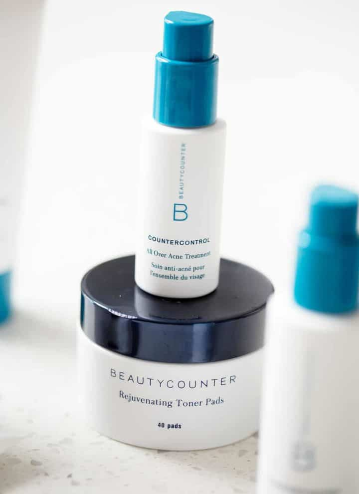 best acne solutions. beautycounter products on white background
