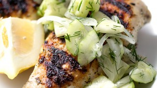 Grilled Chicken and Cucumber Dill Salad