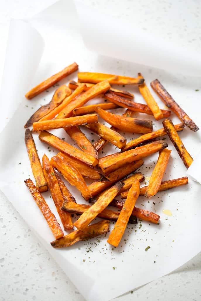 crispy baked sweet potatoes