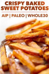 sweet potato fries with text
