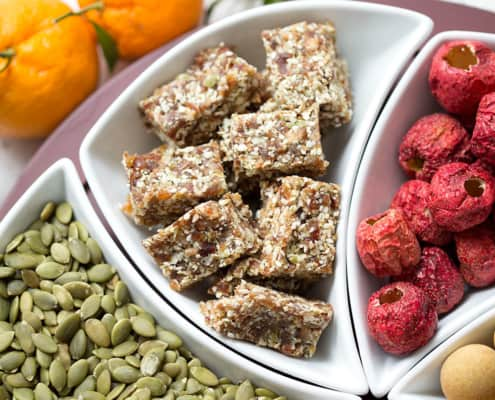 AIP Coconut Date Bars are a yummy and sweet treat that contain zero added sugar refined or otherwise. They only have 5 ingredients and require zero baking just blending. This recipe suits the Autoimmune Protocol (AIP), Paleo, and Vegan diets.