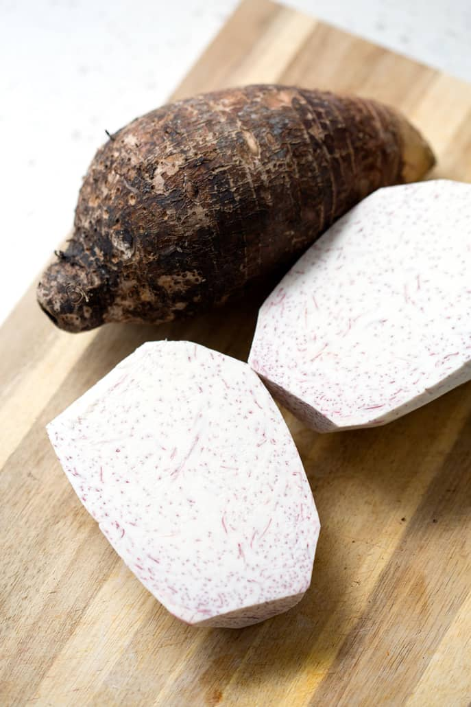 Taro Cake is a humble dish made with only a handful of ingredients. It's a savory side dish that is normally found at Sunday Dim Sum or during your families Chinese New Year celebrations. This recipe suits the Autoimmune Protocol (AIP) and Paleo diets.