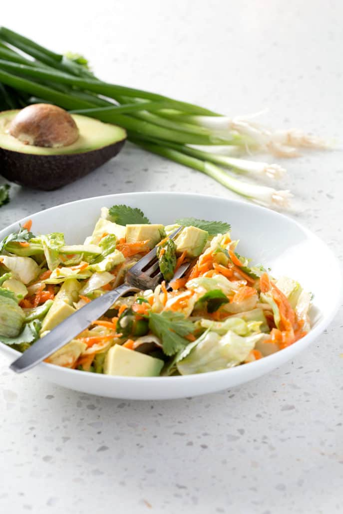 This is the Best Chopped Salad recipe ever! It's made with fresh spring veggies and a herby salad dressing. It's the perfect light lunch or side salad. This recipe fits the Autoimmune Protocol diet (AIP), Paleo, Vegan and Allergy Friendly.