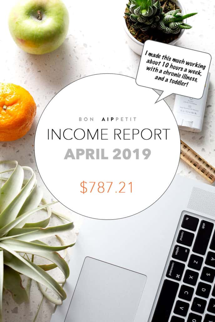Find out how I make money with my blog with my Blog Income: Monthly Income Report for April 2019.