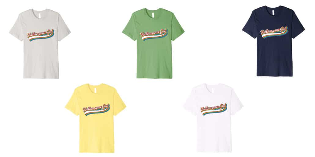 different color tshirts