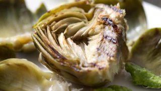 Grilled Artichokes & Cilantro Avocado Dip
