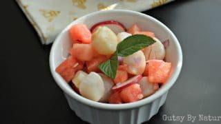 Watermelon and Scallop Ceviche (AIP, SCD)