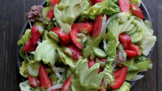 strawberry salad is the perfect summer veggie side dish.