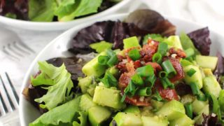 Bacon Apple Salad with Lemon-Ginger Dressing