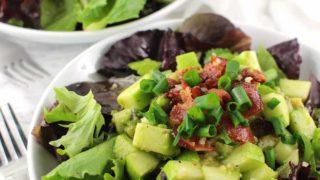 Bacon Apple Salad with Lemon-Ginger Dressing