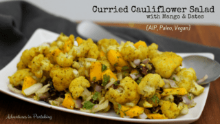 Curried Cauliflower Salad with Mango and Dates