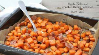 Maple Balsamic Roasted Sweet Potatoes