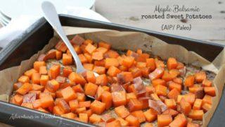 Maple Balsamic Roasted Sweet Potatoes