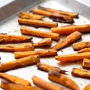 sweet potato fries on baking sheet