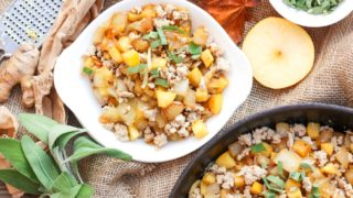 Turkey, Apples and Onions Hash (for Breakfast or Dinner; a 1-pan meal) — Paleo, AIP, GAPS, Whole30
