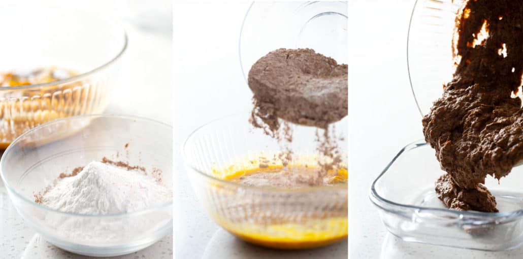 steps to making chocolate cake batter