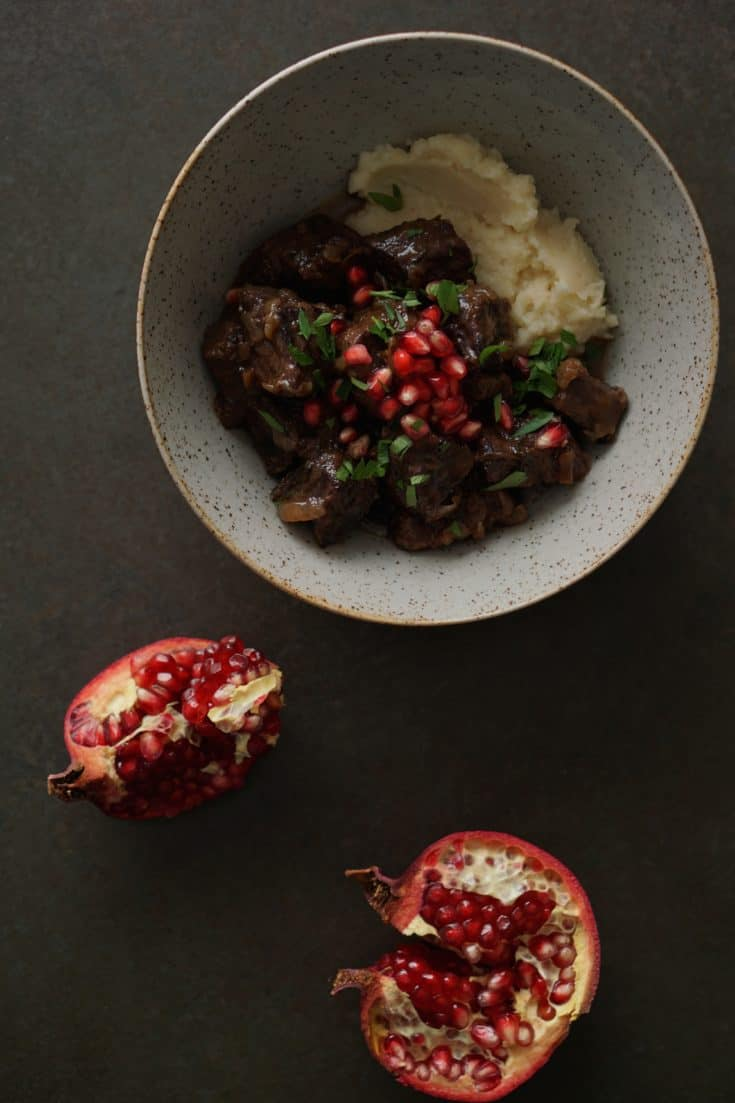 Rich Beef Stew with Pomegranates {AIP, GAPS, SCD, Paleo} - Healing Family Eats