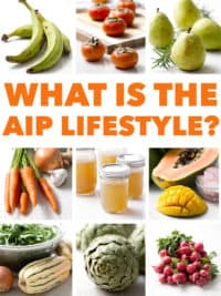 collage of food photos with the words what is the aip lifestyle
