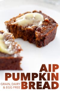 slice of aip pumpkin bread with melting ghee on top