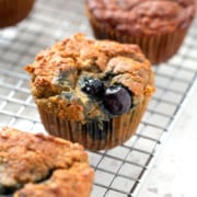 AIP Blueberry Muffins on a cooling rack