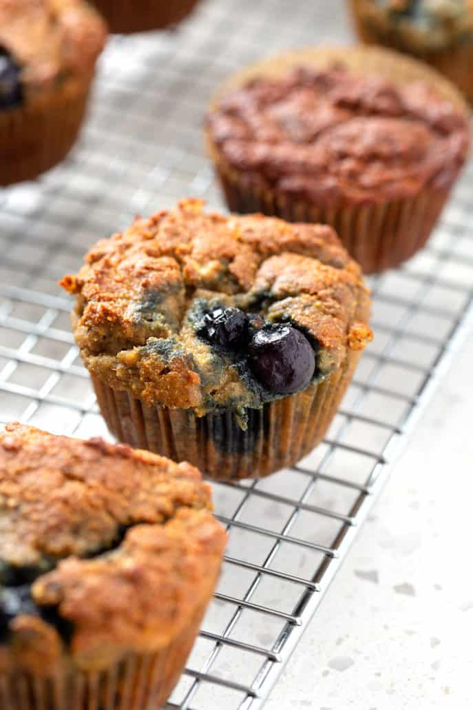 AIP Blueberry Muffin on cooling rack