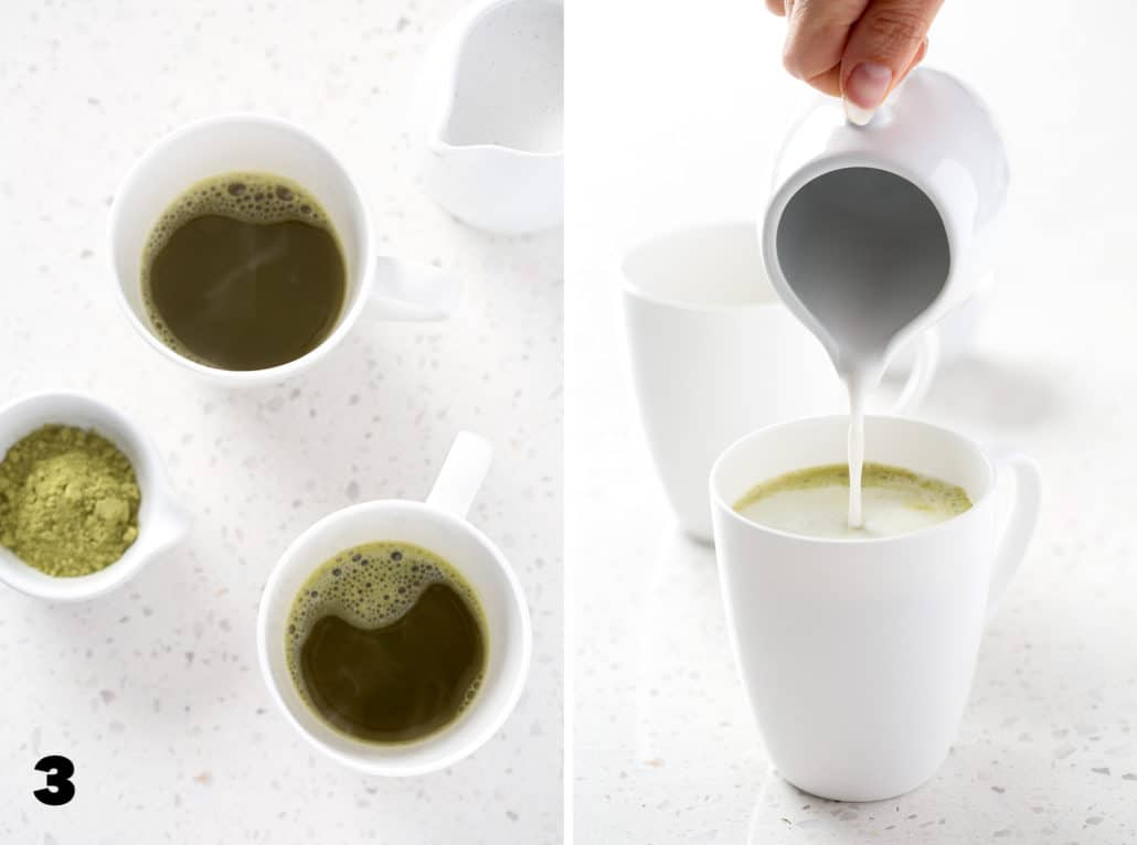 step by step instructions for AIP Coconut Milk Matcha Latte