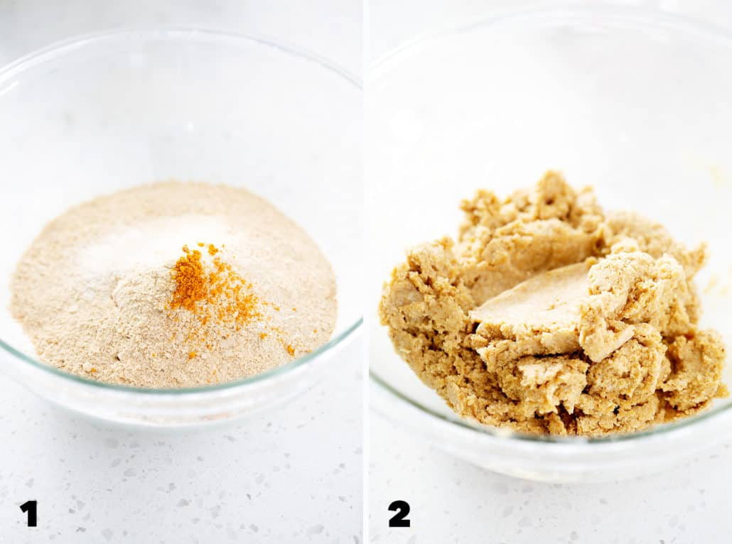 step by step instructions to make AIP Cassava 'Cheese' Crackers