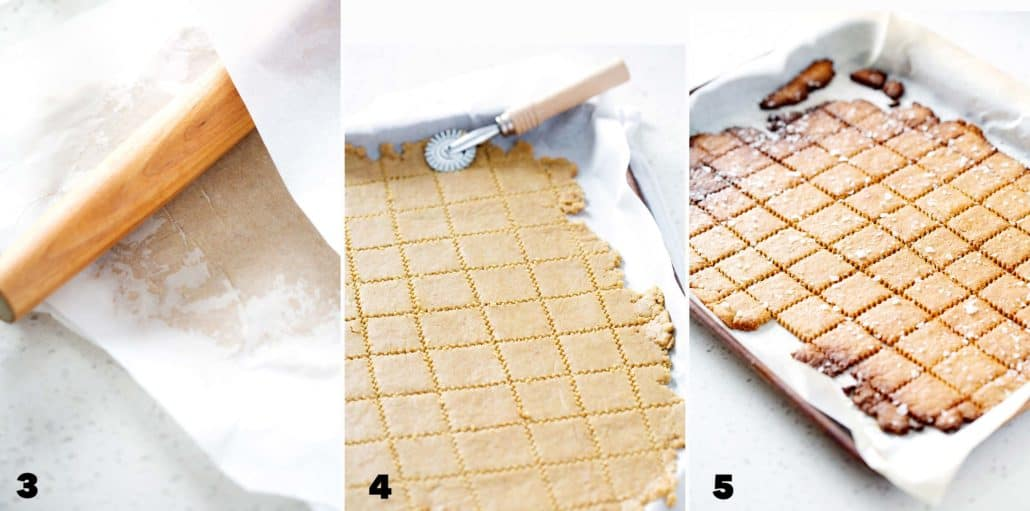 step by step instructions for making AIP Cassava 'Cheese' Crackers