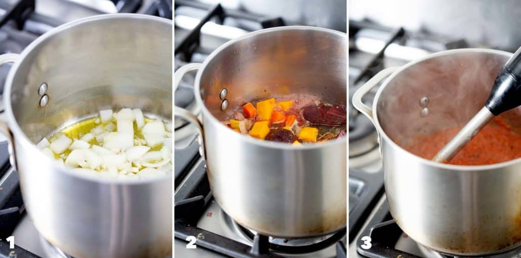 step by step photos of how to make nomato sauce